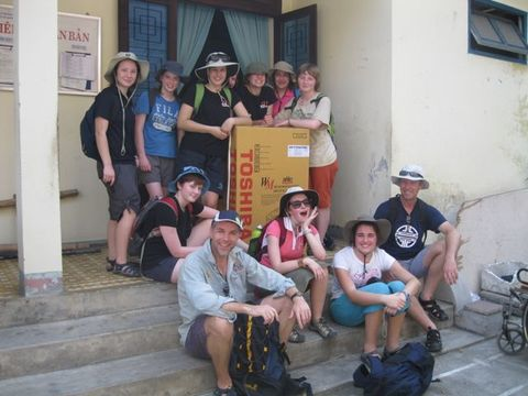 Ten Fahan students took part in the 2012 World Challenge Vietnam