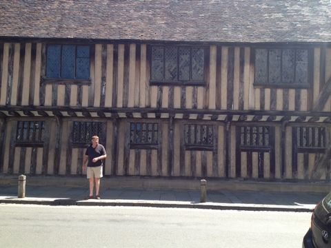 Outside the birthplace of the Bard